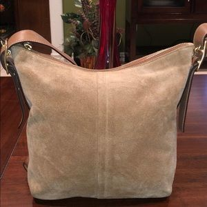 COACH  Suede Leather  Crossbody Handbag Purse